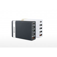 XPOWER 60W 5-Port USB Quick Charger w/QC3.0 + Type-C
