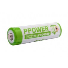 PPower 14500 3.7V Rechargeable Lithium Ion Battery x2 (with Battery box)