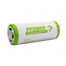 PPower 26650 3.7V Rechargeable Lithium Ion Battery x2 (with Battery box)